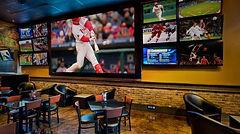 TV installation in sports bar