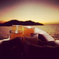 Shots at sunset while sailing the Sea Bird Sailboat