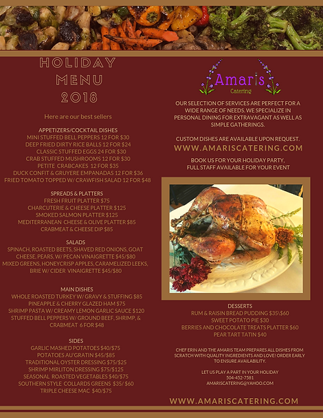 2018 Amaris Catering Holiday Menu  (1).p