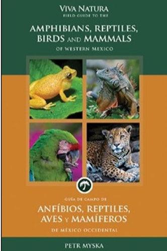 Guía de campo de anfibios, reptiles, aves y mamíferos de México occidental
