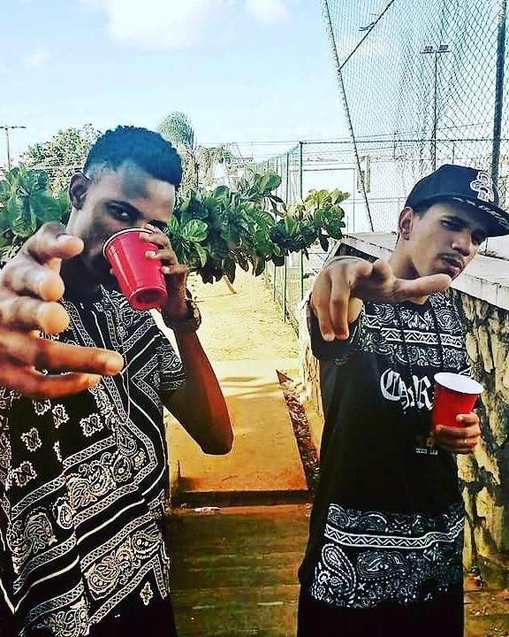 Negro Réu (á direita) e Sued Negro