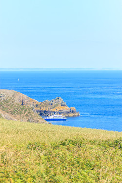 The coast of France seen from Sark