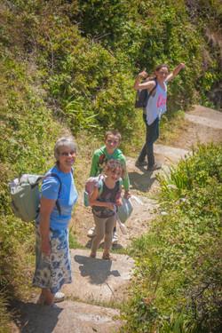 Sue and her grandkid going beaching