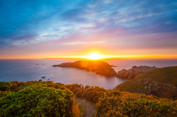 Sun set over the Islands
