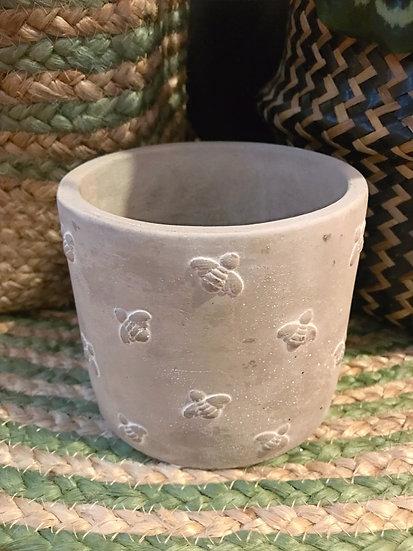 Bee Cement Pot-L10 xW10 xH10cm