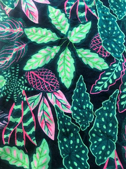 Variegated Leaves Towel-L70xH140