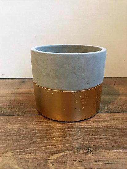 Gold Pot- L12.8x H11.1x D12.8cm