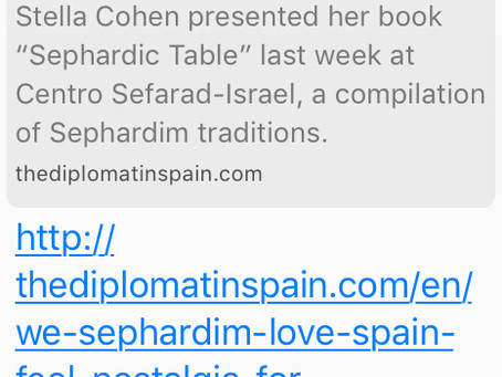 We Sephardim love Spain, feel nostalgia for something we didn't know