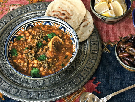 Moroccan Chickpea and Lentil Soup - Harira