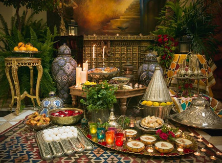 Sephardi Moroccan Festive Table