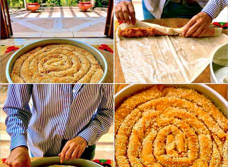 Pumpkin & Greek Cheese Coiled Filo Pie