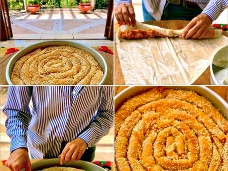 Pumpkin & Greek Cheese Coiled Filo Pie