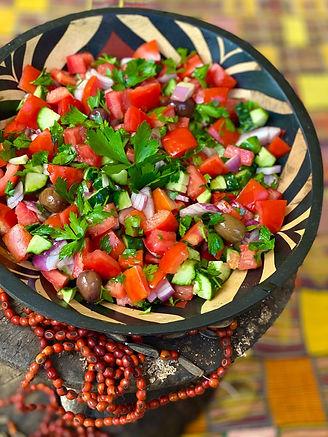 Turkish Chopped Tomato & Cucumber Salad