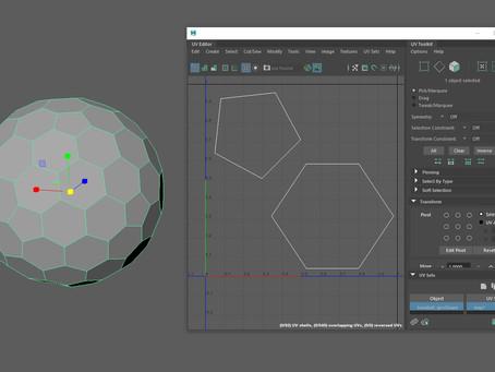 Mayaで六角形の球を作る方法