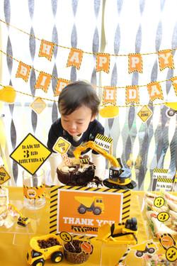 3歳のお誕生日男の子パーティー