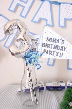 3歳のお誕生日フォトプロップス