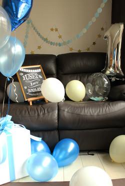 1歳のお誕生日コンフェッティバルーン