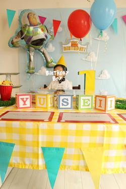 1歳のお誕生日男の子