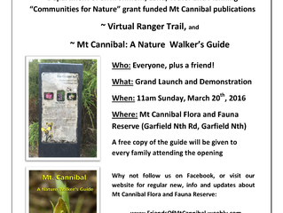 Mt Cannibal Nature Walker's Guide Launch Event