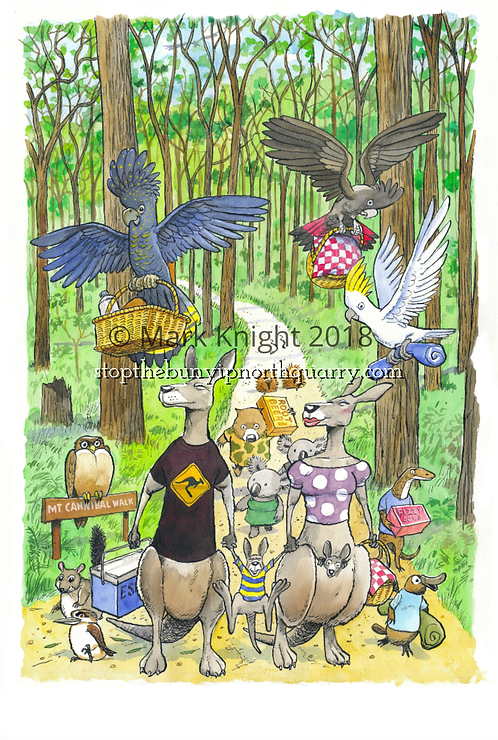 """The Picnic Party"" Mark Knight Limited Edition Print - Unframed"