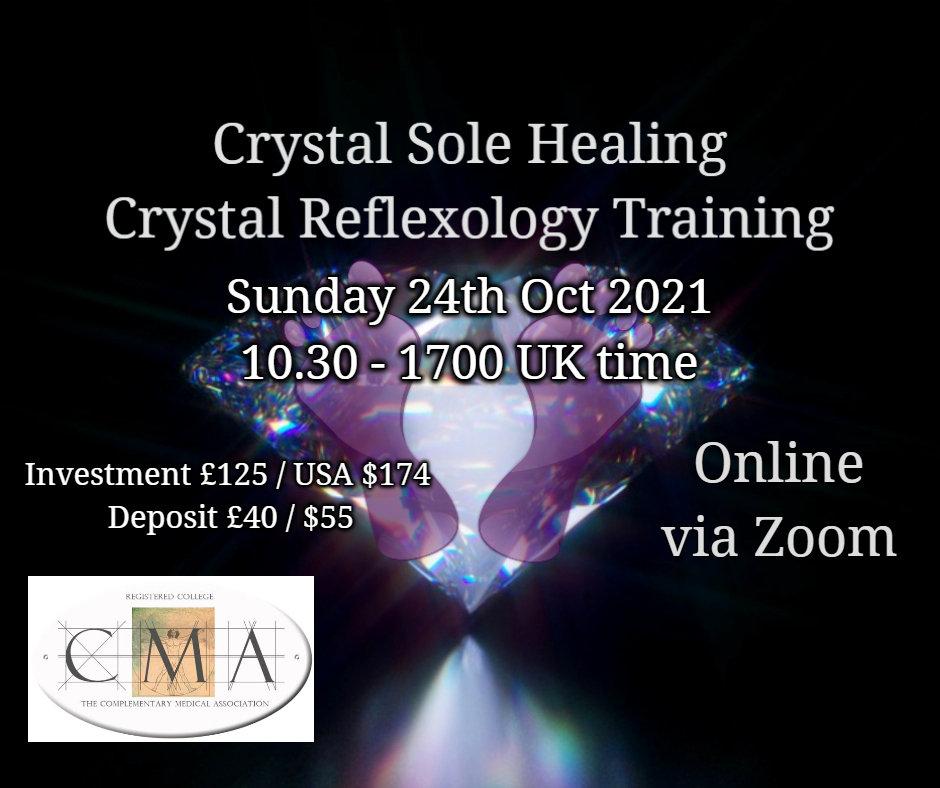 Crystal Reflexology Training Online Zoom