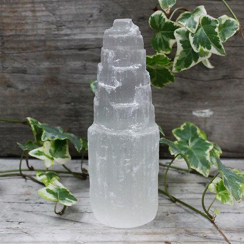 Natural Selenite Tower - 15 cm