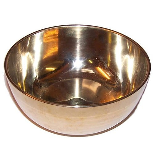 Large Brass Sing Bowl - 17cm