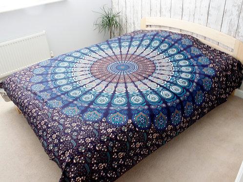 Double Cotton Bedspread + Wall Hanging - Classic Mandala