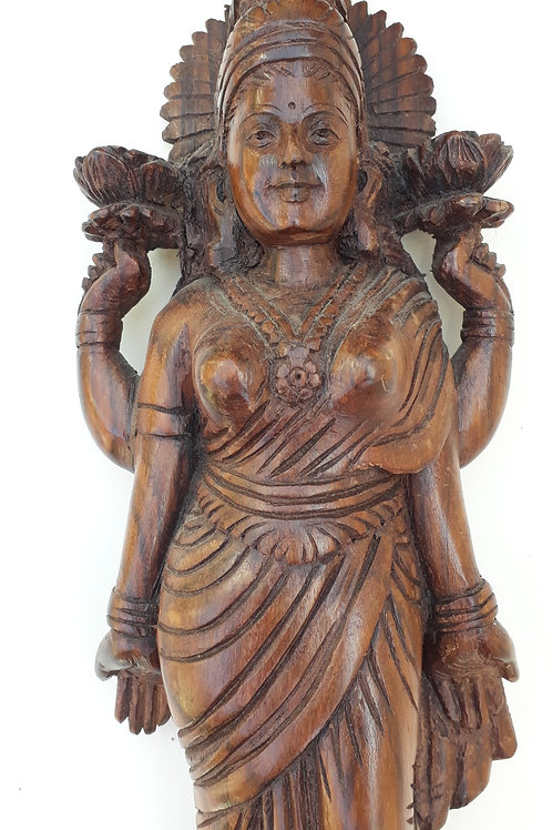 Hand-carved wooden Goddess