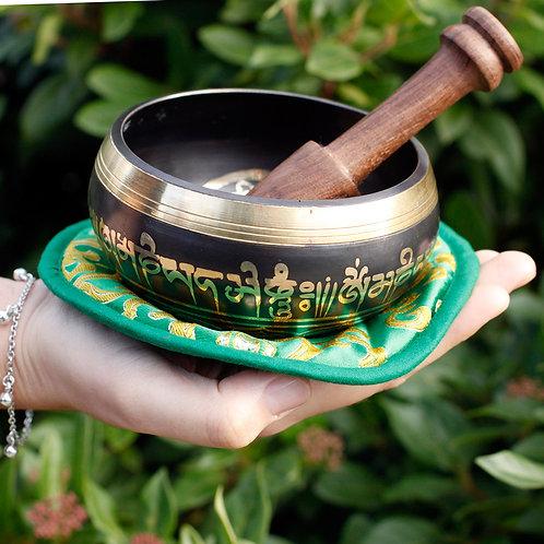 Green Tara Singing Bowl Set 10cm (min 380gm)