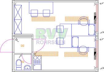 RVV Duo Büroanlage mit WC