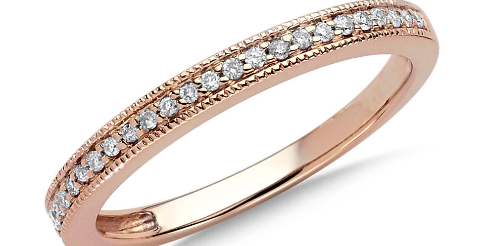 Rose Gold and Diamond StackingRing