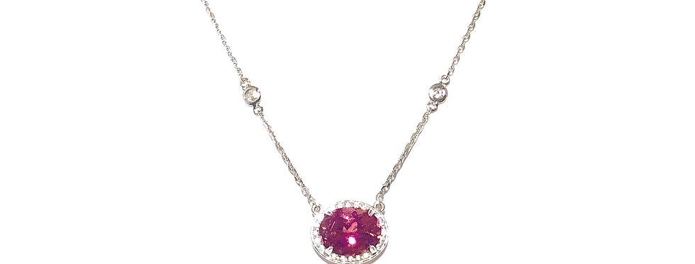 14KW Pink Tourmaline Necklace