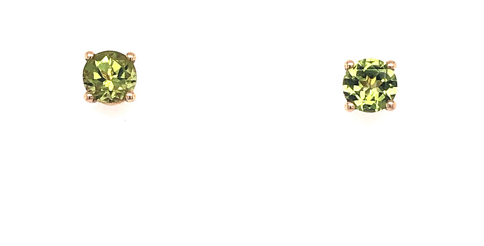 10KY Peridot Earrings