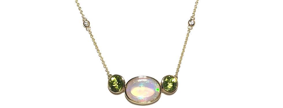 14KY Ethiopian Opal & Peridot