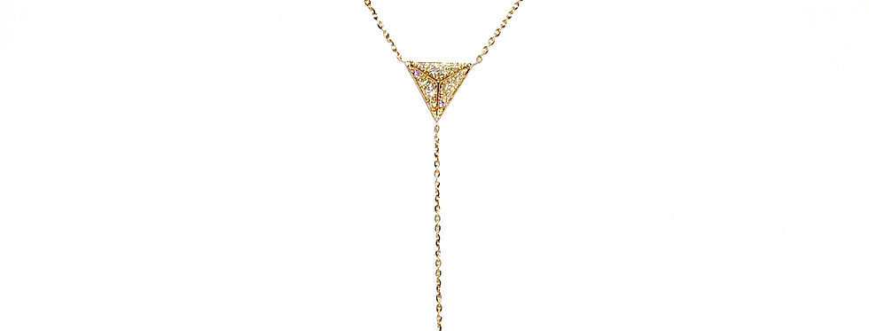 14KY Diamond Pendulum Necklace