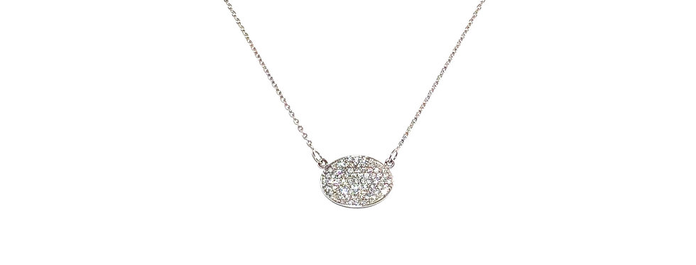 14KW Pave Diamond Necklace