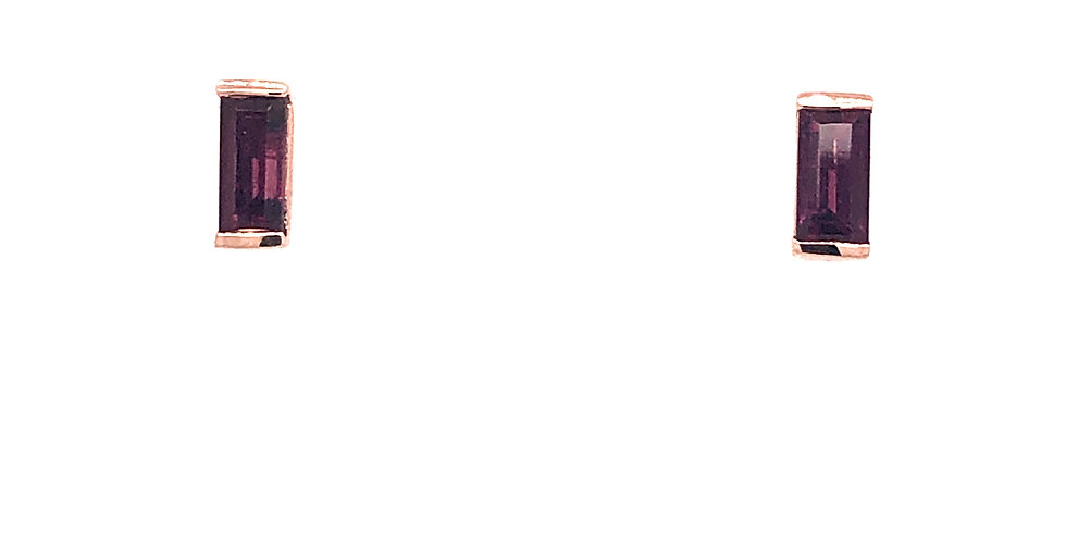 10KR Rhodolite Garnet Earrings