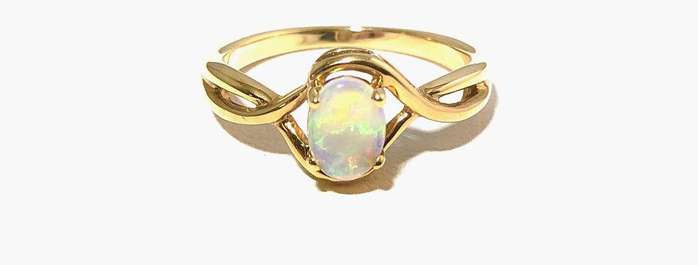 14K Austrailian Opal Ring