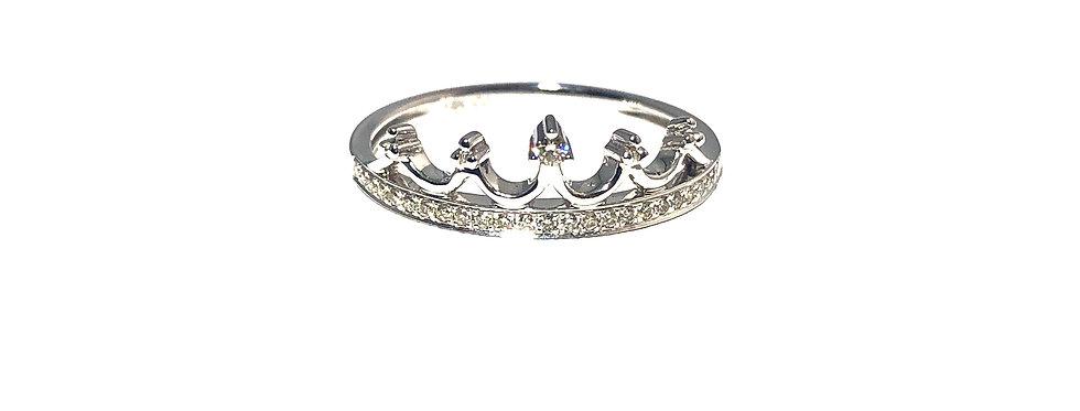 14K Diamond Crown Ring
