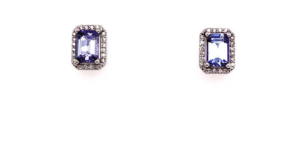 14KW Tanzanite & Diamond Earrings