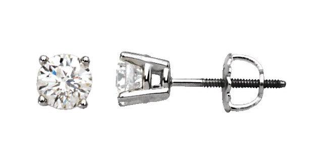Diamond Stud Earrings - 0.48 cttw