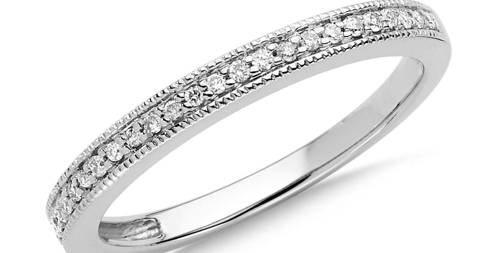 White Gold and Diamond Stacking Ring