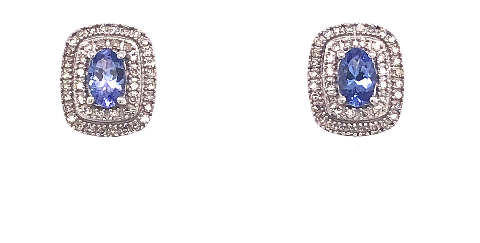 10KW Tanzanite & Diamond Earrings