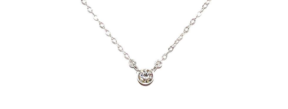 14KW Bezel Set Diamond Necklace
