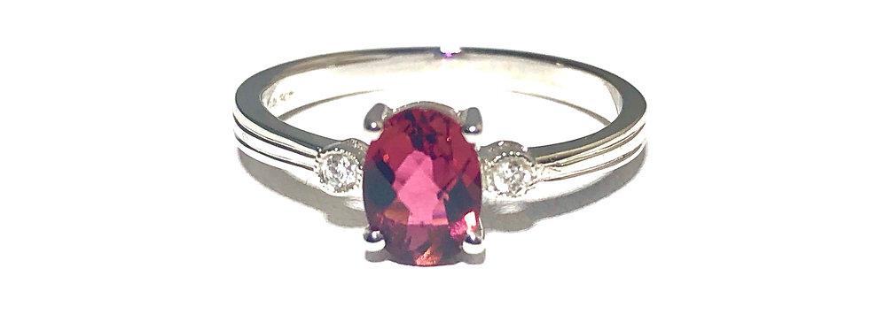 14K Rhodolite Garnet Ring