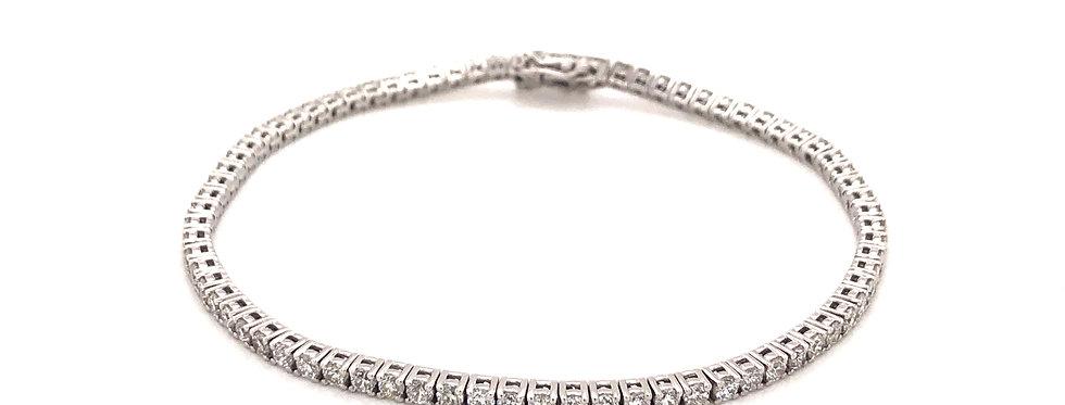 14KW Diamond Line Bracelet