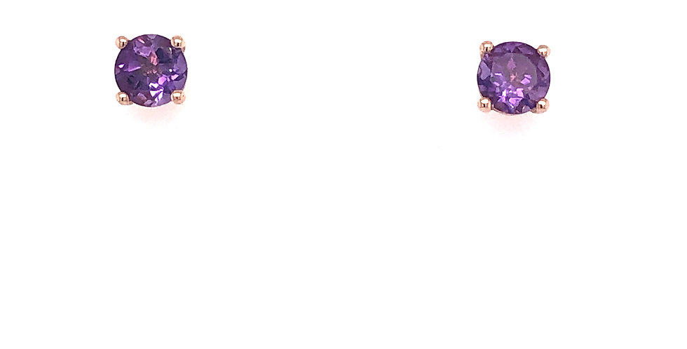 10KR Amethyst Earrings