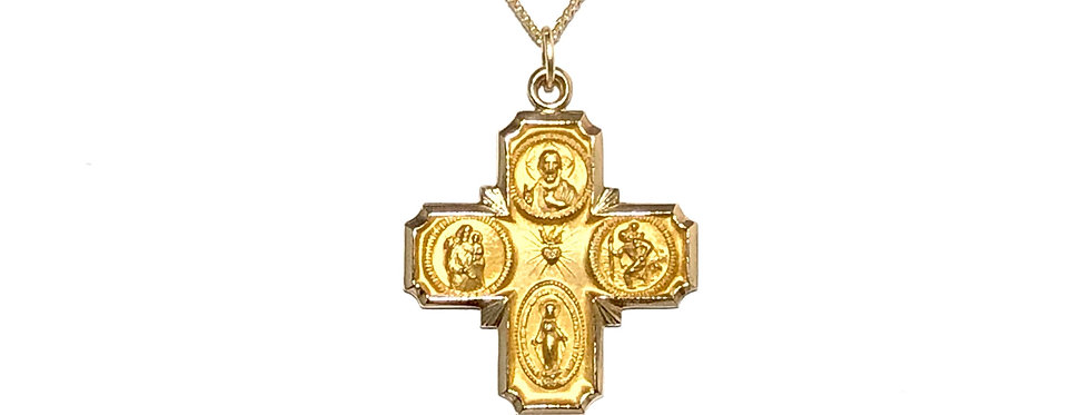14KY 4-Way Cross Medalion