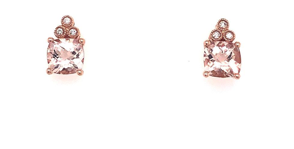 14KR Morganite Earrings